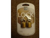 New Go Travel Secure Locks Solid Safe Secure Only £3 a pack ideal holidays gift