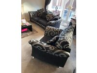 2 Piece Suite Sofa Couch Settee and Chair