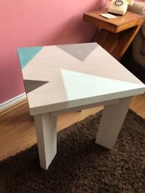 ✨Unique Hand Painted Solid Wood Table by lovedbyemmaw ✨