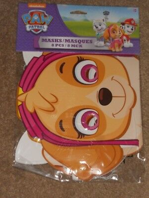 Nickelodeon American Greetings PAW Patrol Masks (8 Count) NEW SEALED](Paw Patrol Masks)