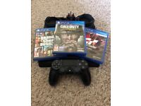 PlayStation 4 Slim and 3 Games