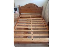 Solid pine kingsize bedframe, very study and clean