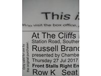 Russell Brand Cliffs Pavillion AMAZING SEATS