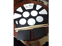 Roll Up Portable Drum Kit - for practice or kids
