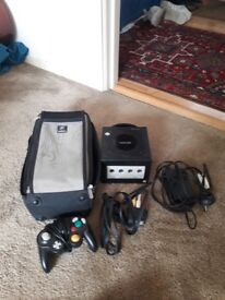 Nintebdo gamecube with games and accdssories