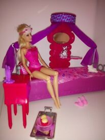 Barbie bedroom set. Including Barbie Doll!