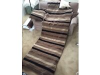 Large pair of curtains - new condition. horizontal stripes
