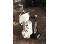 Golf Clubs with 'Wilson' Bag and Trolley