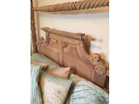 King sized stunning four poster type antique bed
