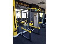PowerGym Fitness Home Power Rack Cage Squat Gym Exercise Machine
