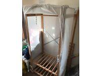 Argos cloth / canvas wardrobes (2 available) good condition