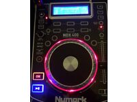 2x Numark CDJs NDX400 USB MP3 DJ