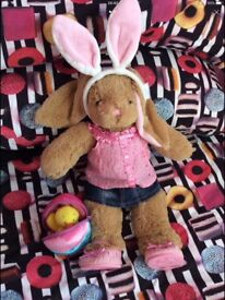 BUILD A BEAR BUNNY WITH OUTFIT AND ACCESSORIES