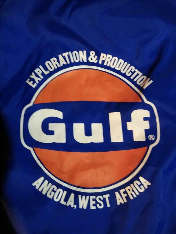 Vintage Gulf Oil Angola Jacket Windbreaker