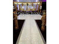 Dancing Floors - White LED dance floor hire - London