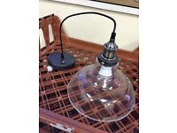 Clear Glass Ceiling Lightshade Vintage/Retro