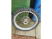 Yz125 front wheel came of 98