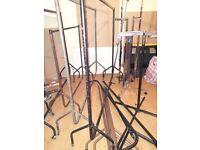 Clothes Rails, Solid Heavy Duty, Assorted Sizes & Designs Job Lot 8 Rails