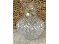 Galway Crystal Vase and 4 Wine Glasses