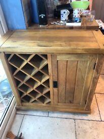 Solid Mango Wood drinks Cabinet