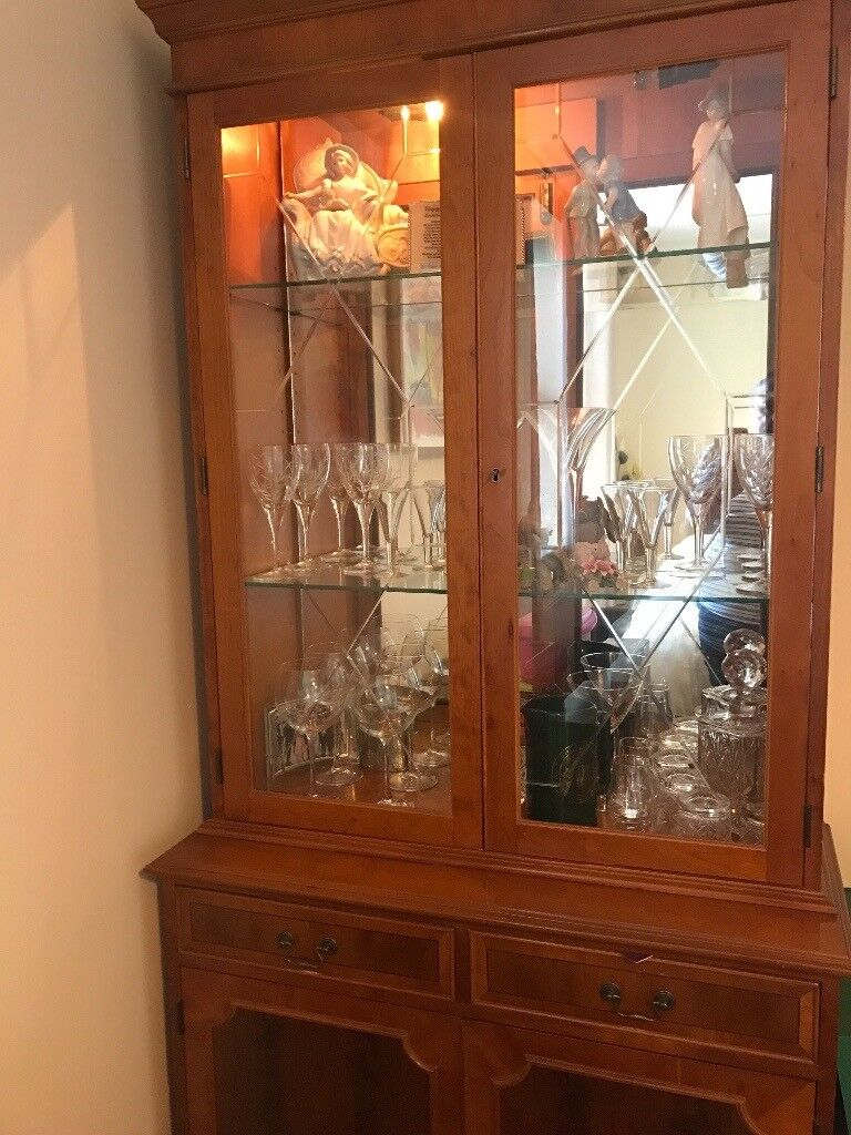 Yew wood drinks cabinet