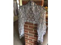 Silver evening shawl