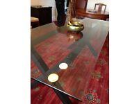 Lovely modern glass dining table