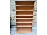 Pine 7 shelved book case