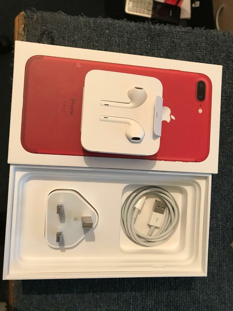 **RED IPHONE 7 PLUS 128GB BRAND NEW ***