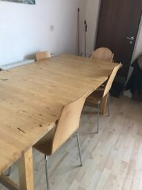 Large Ikea dining table.