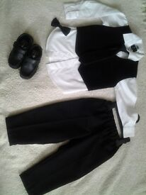 Suit for boy 2-3 and shoes size 7
