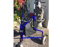 Disabled, 3 wheeled walker
