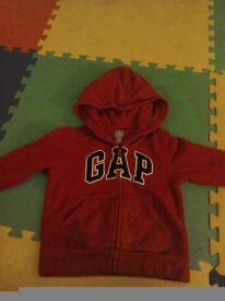GAP red hoodie age 3 - 4 years