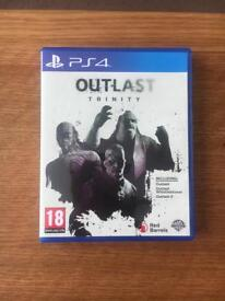 outlast trinity 2 disc ps4 barely used