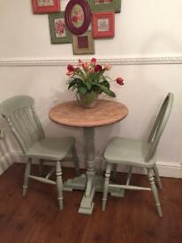 Country style breakfast table/two chairs