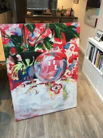 Still life acrylic paintings