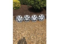Genuine ford Hub caps x 4 size 15inc good condition see photos