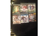 Psp3 with 2 controllers and 6 games