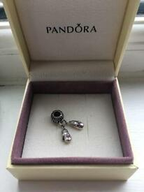 Genuine pandora charms, ring and earrings