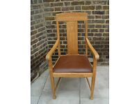 FREE DELIVERY Vintage Wooden Oak Armchair Retro Furniture 11