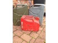 Jerry cans job lot