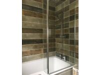 L Shaped Bath Shower Screen