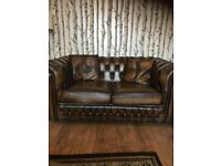Stunning Saxon Leather Chesterfield