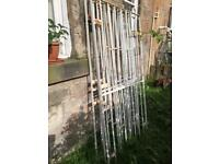 Four hinged and lockable iron tenement window protection shutters / bars / cages £60