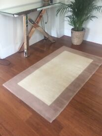 Coffee/cream coloured small rug Excellent condition