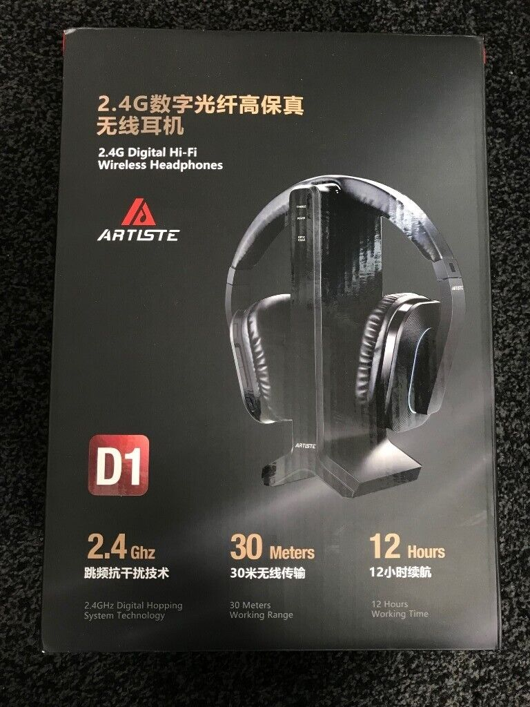 a5e5fa38b0d Brand New Sealed Artiste D1 2.4GHz Wireless Headset For TV with Charging  Dock