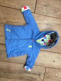 M&S blue with stars lining coat