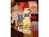MIXED BUNDLE OF BABY GIRLS CLOTHES and Slippers Some BNWT 0-12MONTHS will post