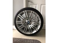 """BMW 19"""" alloy and tyre"""
