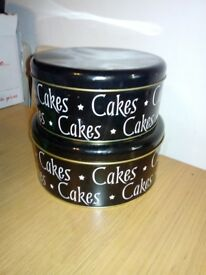Various kitchen items. Plates, bowls cake Tins etc